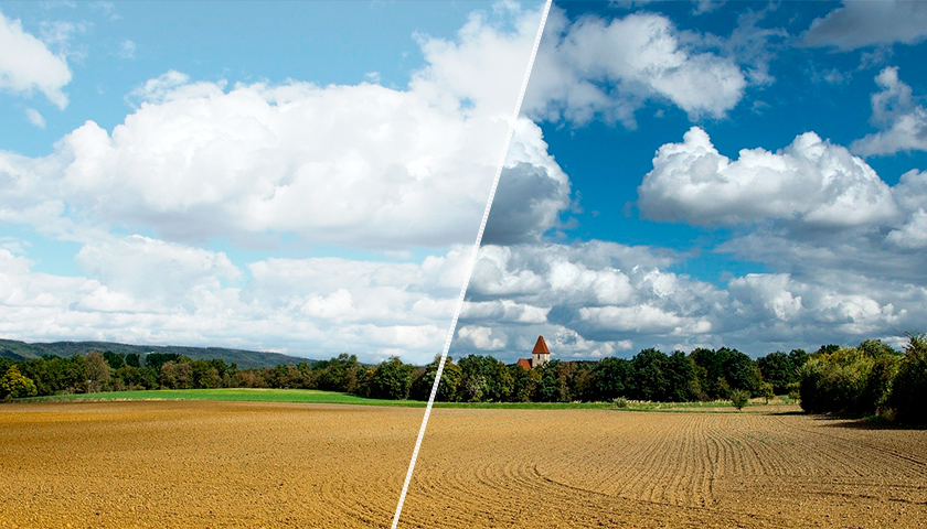 polarizasyon filtresi renk doygunluğu ve kontrastı artırır