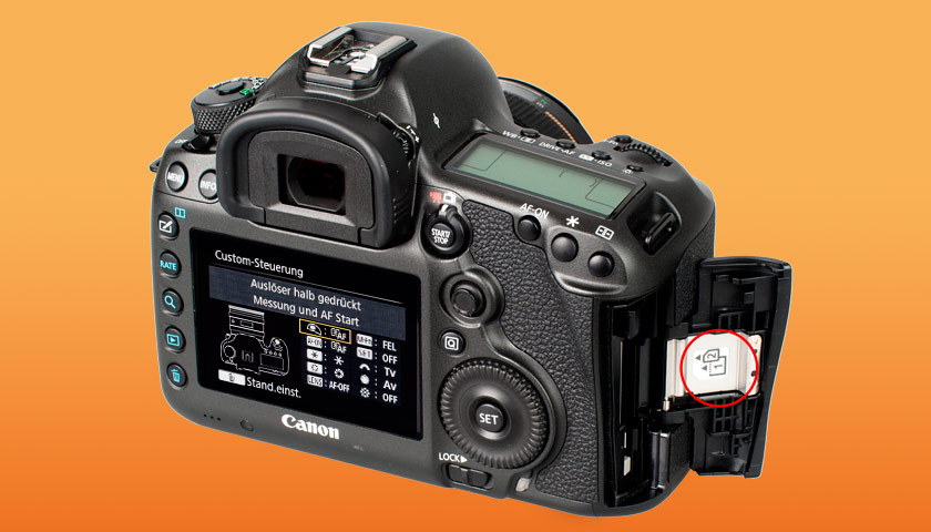 Canon 5DS R CF/SD Cardslots