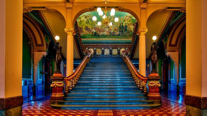 hdr fotoğraf tekniği ile Viyana saray merdiveni